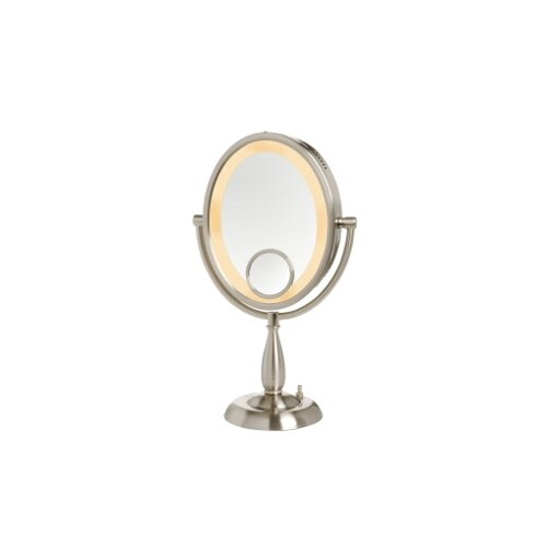 Jerdon Oval Lighted Vanity Mirror