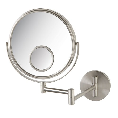 Dual Sided Wall Mount Mirror with Spot Mirror