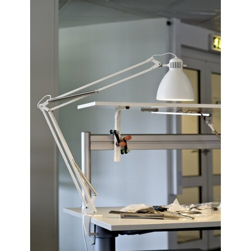 """Luxo L-1 Edge Clamp Architect 40"""" H Table Lamp with Bowl Shade"""