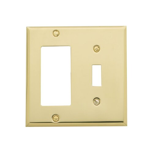 Baldwin Classic Square Bevel Design Combination of Single GFCI and Toggle Switch Plate
