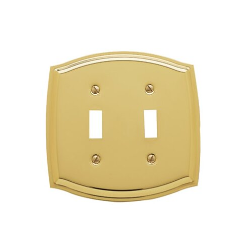 Colonial Design Double Toggle Switch Plate