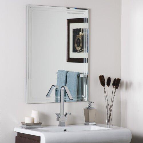 Sheffield Home Beveled Glass Mirror Home Design Ideas: Decor Wonderland Frameless Tri Bevel Wall Mirror & Reviews