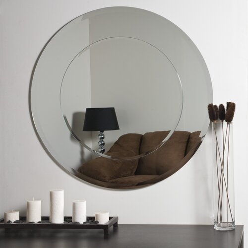 Decor Wonderland Oriana Modern Round Wall Mirror