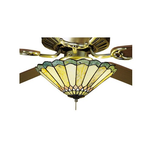 Meyda Tiffany Jadestone Carousel 3 Light Ceiling Fan Light