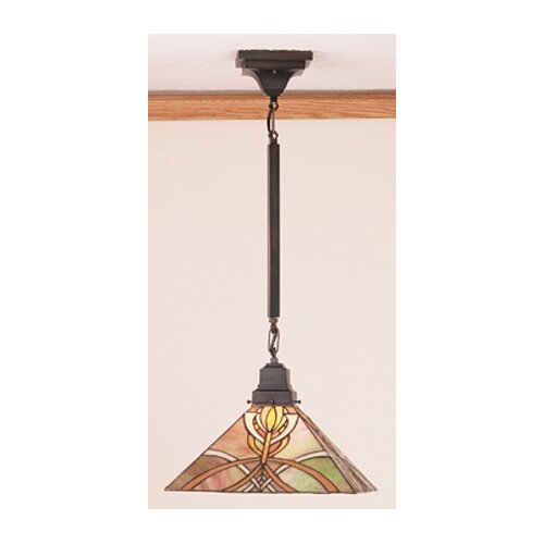 Mission 1 Light Bungalow Pendant