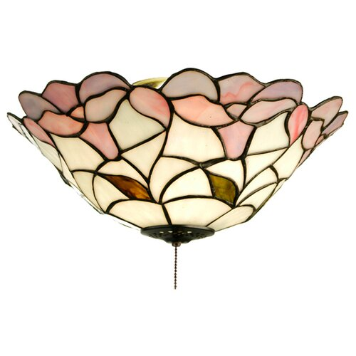 Meyda Tiffany Victorian Daffodil 3 Light Flush Mount