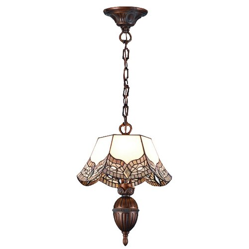 Meyda Tiffany Victorian Mariposa 3 Light Inverted Pendant