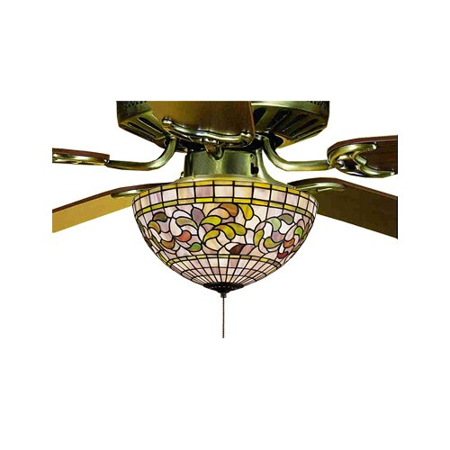 Meyda Tiffany Victorian Tiffany Turning Leaf Fan Light Fixture