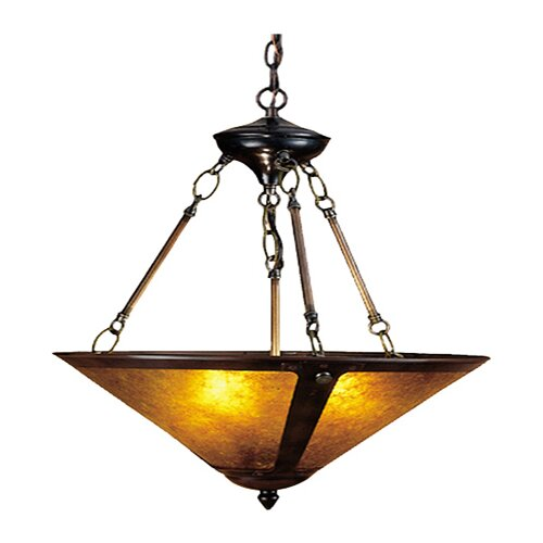 Meyda Tiffany 3 Light Inverted Pendant