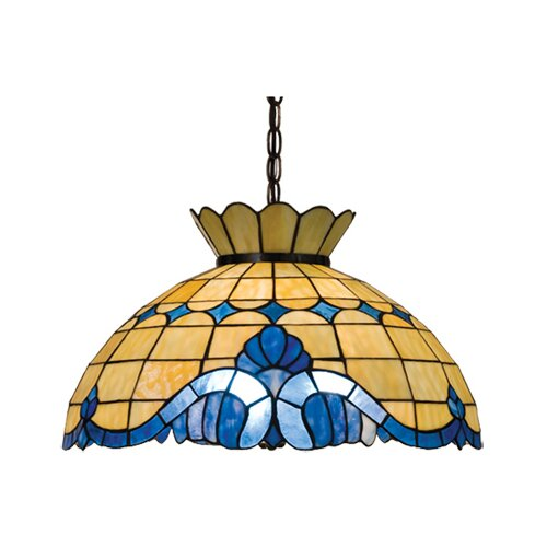 Victorian Nouveau 3 Light Baroque Pendant