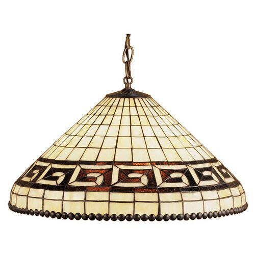 Meyda Tiffany Deco Greek 3 Light Key Pendant