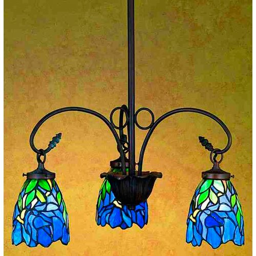 Meyda Tiffany Nouveau Iris 3 Light Chandelier