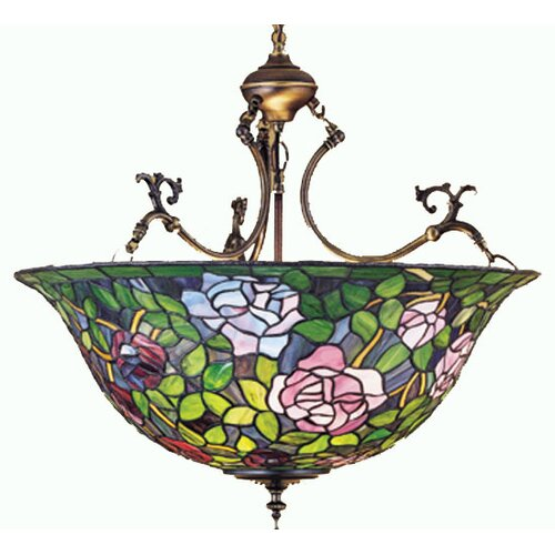 Tiffany Rosebush 3 Light Inverted Pendant