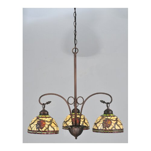 Meyda Tiffany inecone Dome 3 Light Chandelier