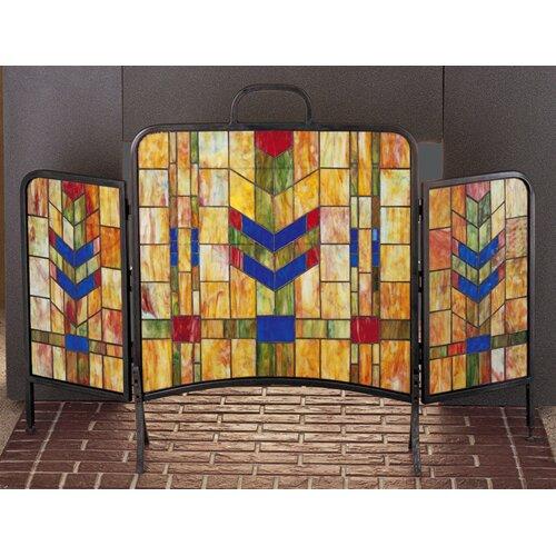 Prairie Wheat 3 Panel Fireplace Screen