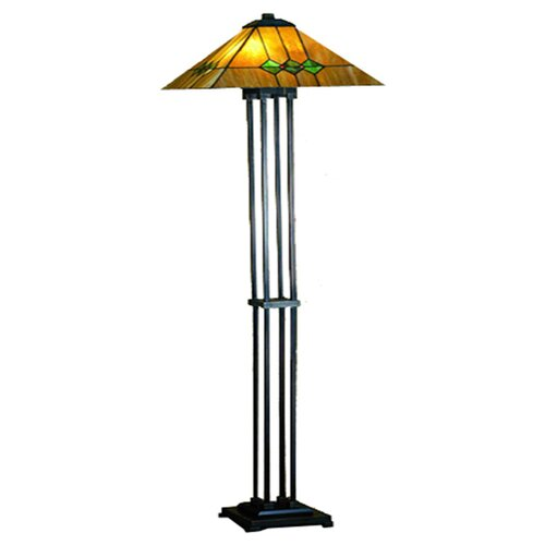 of tiffany mission style torchiere floor lamp reviews wayfair. Black Bedroom Furniture Sets. Home Design Ideas