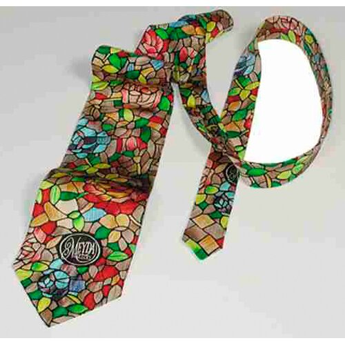 "Meyda Tiffany ""Rosebush"" Patterned Tie"