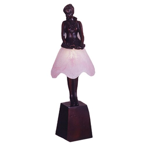 "Meyda Tiffany Silhouette Breezy Lady 17.5"" H Table Lamp"