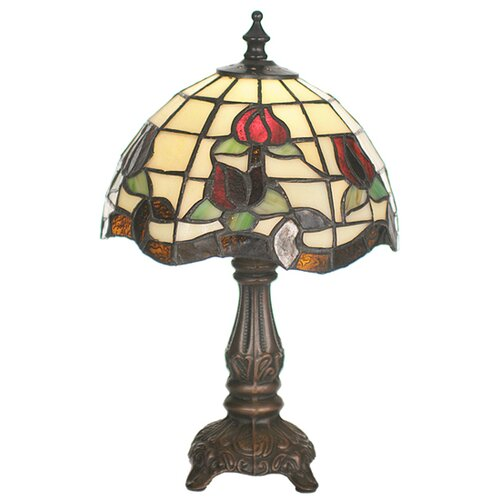 Meyda Tiffany Victorian Rose Border Mini Table Lamp