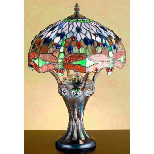 Meyda Tiffany Tiffany Hanginghead Dragonfly Mosaic Base Accent Table Lamp