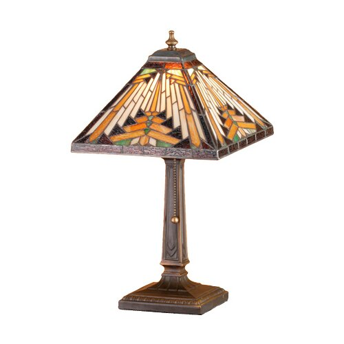 "Meyda Tiffany Nuevo Mission 18"" H Square Accent Table Lamp"