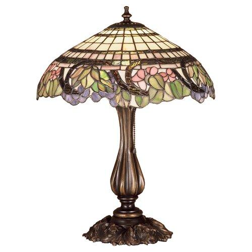 "Meyda Tiffany Tiffany Floral Handel Grapevine 19"" H Table Lamp with Bowl Shade"