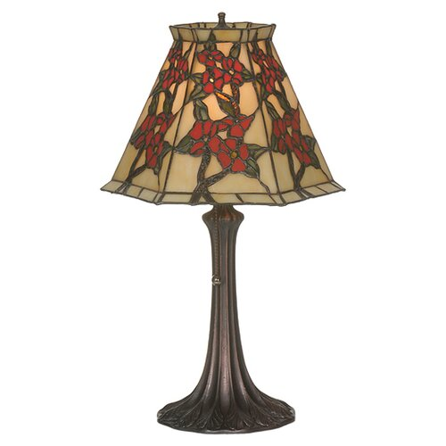Meyda Tiffany Victorian Tiffany Floral Asian Oriental Peony Accent Table Lamp