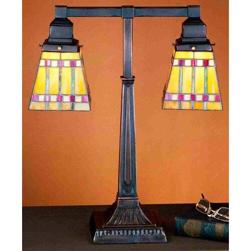 "Meyda Tiffany Prairie Corn 20"" H 2 Light Table Lamp"