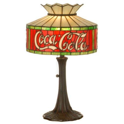 "Meyda Tiffany Tiffany Americana Recreation Coca-Cola 20"" H Table Lamp with Drum Shade"