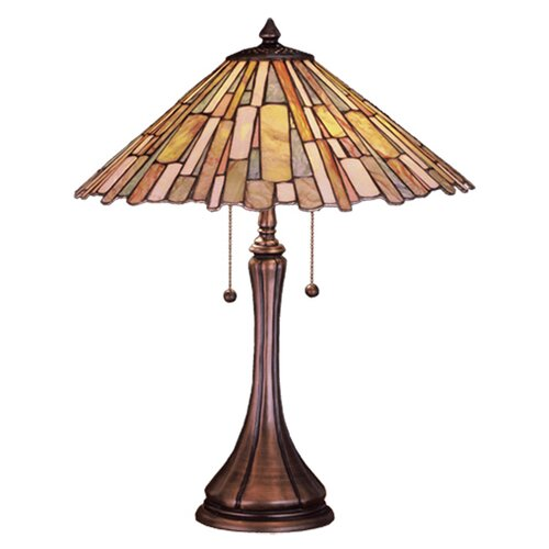 Meyda Tiffany Jadestone Delta Table Lamp