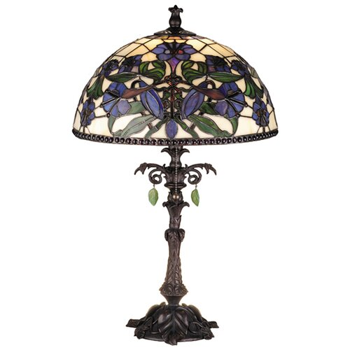 "Meyda Tiffany Victorian Nouveau Lily 23"" H Table Lamp with Bowl Shade"