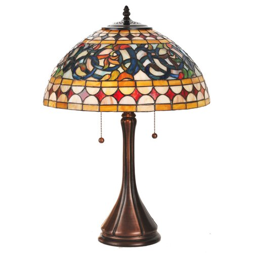 "Meyda Tiffany Tavern 23"" H Table Lamp with Bowl Shade"