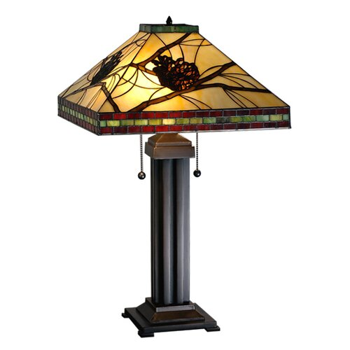 Meyda Tiffany Tiffany Pine Branch Mission Table Lamp