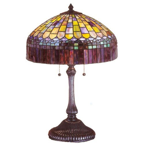 "Meyda Tiffany Tiffany Candice 24"" H Table Lamp with Bowl Shade"