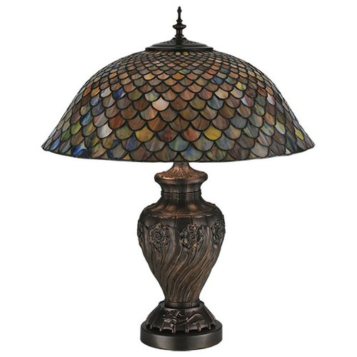 "Meyda Tiffany Tiffany 24.5"" H Fishscale Table Lamp"