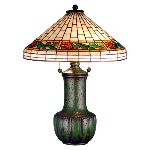 Meyda Tiffany Bungalow Pine Cone Table Lamp