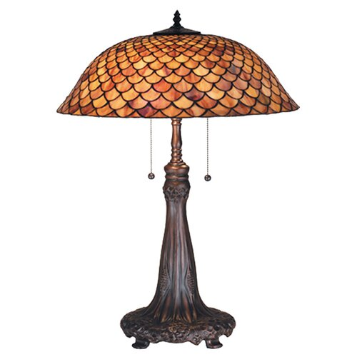 "Meyda Tiffany Tiffany 27.5"" H Fishscale Table Lamp"