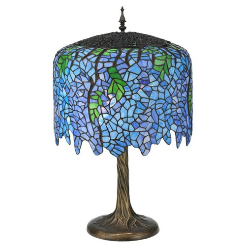 Meyda Tiffany Wisteria Tiffany Table Lamp