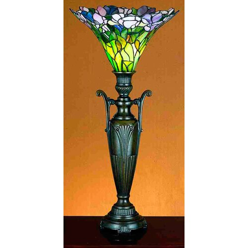 """Meyda Tiffany Tulip 29"""" H Table Lamp with Bell Shade"""