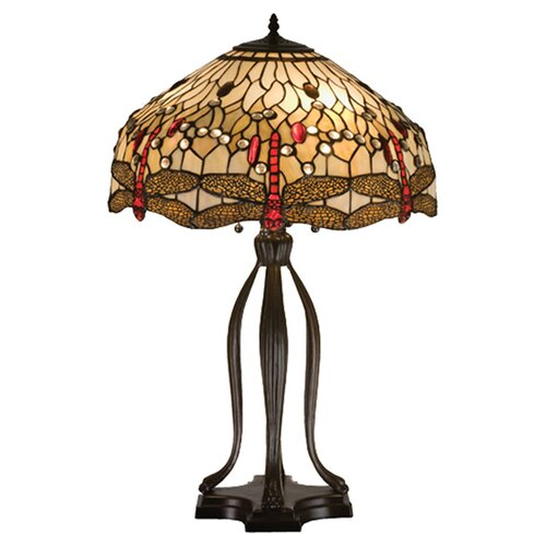 "Meyda Tiffany Tiffany 30.5"" H Hanginghead Dragonfly Table Lamp"