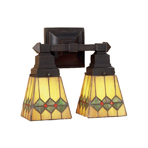 Meyda Tiffany Martini Mission 2 Light Wall Sconce