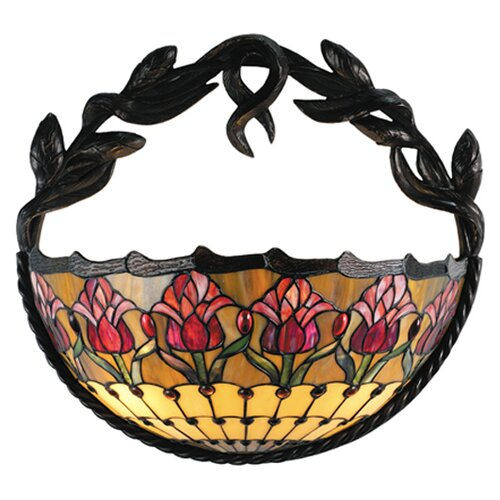 Meyda Tiffany Colonial Tulip 2 Light Wall Sconce
