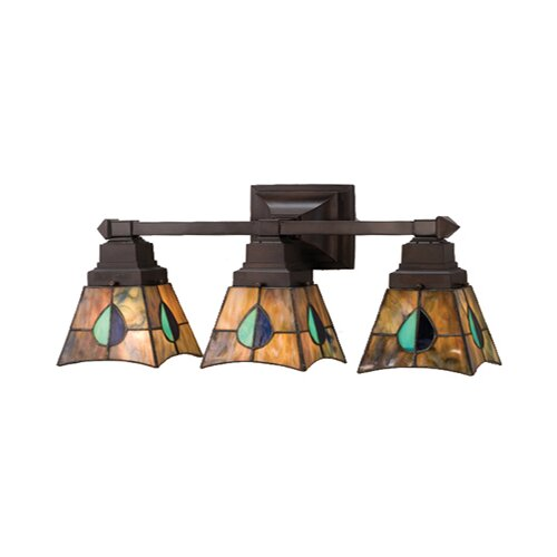 Meyda Tiffany Mackintosh Leaf 3 Light Vanity Light