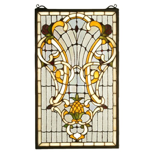 Meyda Tiffany Victorian Welcome Stained Glass Window