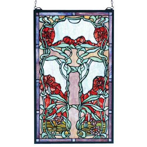 Meyda Tiffany Victorian Nouveau Lily Stained Glass Window