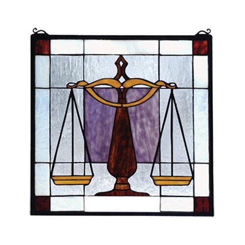 Meyda Tiffany Americana Judicial Stained Glass Window