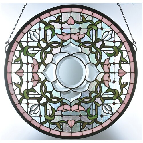 Meyda Tiffany Tulip Bevel Medallion Stained Glass Window