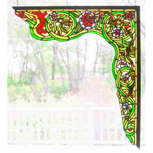 Meyda Tiffany Serpent Right Corner Bracket Window