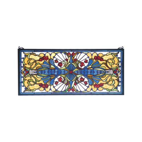 Meyda Tiffany Victorian Sonja Transom Stained Glass Window