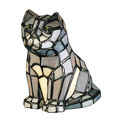"Meyda Tiffany Tiffany Cat 7"" H Table Lamp"